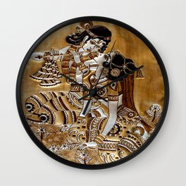 Indian God Radha Krishna Wall Clock