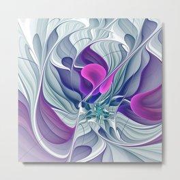 Colorful Life, Abstract Fractal Art Metal Print