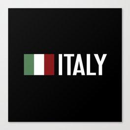 Italy: Italy & Italian Flag Canvas Print