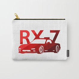 Mazda RX-7 - classic red - Carry-All Pouch