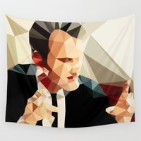 tarantino Wall Tapestries featuring Quentin Tarantino // Reservoir Dogs by VIVA LA GRAPH!