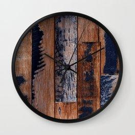Repurposed Industrial Urban Reclaimed Wood Planks Wall Clock