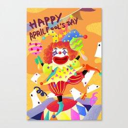 April Fool Clown Canvas Print