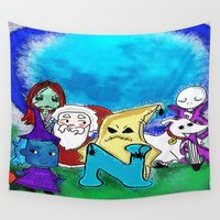 nightmare before christmas Wall Tapestries featuring Nightmare Before Xmas  by grapeloverarts