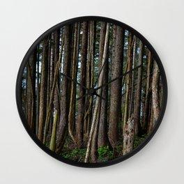 Cape Flattery Trees 2 Wall Clock