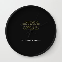 The Force Awakens, Vintage Poster, tar wars, vintage movie poster Wall Clock