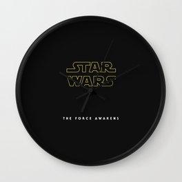 The Force Awakens, Vintage Poster, tar wars, vintage movie poster Wall Clock