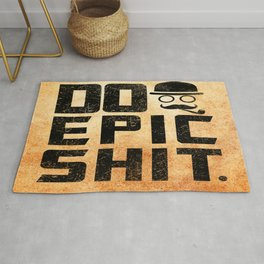 Do epic shit Inspirational Short Quote Rug