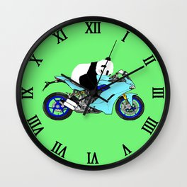 Panda on Bike Wall Clock