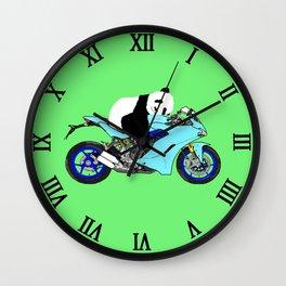 Panda on Bike Wall Clock