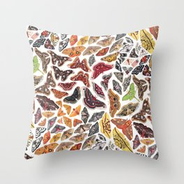 Saturniid Moths of North America Pattern Throw Pillow