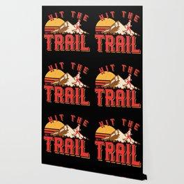 Vintage Gym Hit The Trail Running Marathon Gift Wallpaper