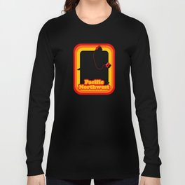 Retro Sasquatch Pacific Northwest Long Sleeve T-shirt