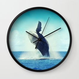 Happy Whale Wall Clock