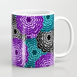 Dahlia Multicolored Floral Abstract Pattern Coffee Mug