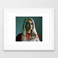 helen Framed Art Prints featuring Helen by Nick Arte