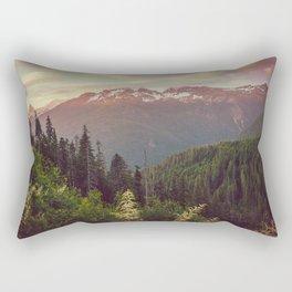 Mountain Sunset Bliss - Nature Photography Rectangular Pillow