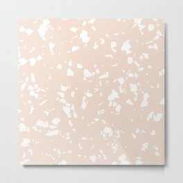 Terrazzo Taupe Metal Print