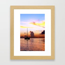 Sailboat at Sunset (Vertical) Framed Art Print