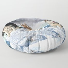 Alaskan Malamute Floor Pillow