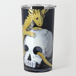 Gold Dragon & Skull Travel Mug