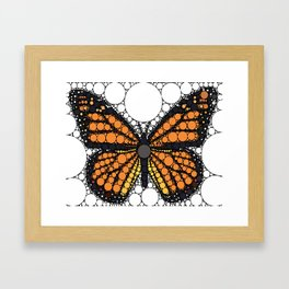 """Monarch Butterfly - from """"Further Back"""" series Framed Art Print"""