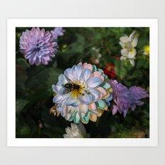 Magic flower (pseudo-oil painting) Art Print