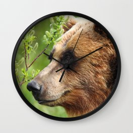 Smokey Sniffing the Breeze Wall Clock