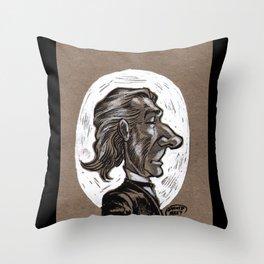 Victorian Profile_1 Throw Pillow