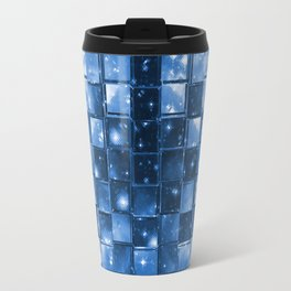 Blocky Blue Stars Travel Mug