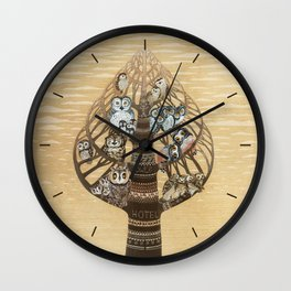 Owl Hotel Wall Clock