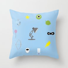 Pixar minimal Throw Pillow