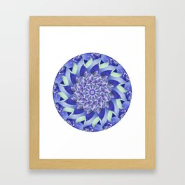 Ever Expanding Mandala in Blue and Purple Framed Art Print