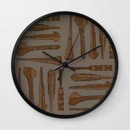 UrbanNesian Samoan War Clubs Wall Clock