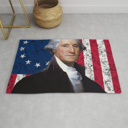 President George Washington and The American Flag Rug