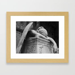 Mourning Angel Framed Art Print