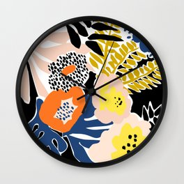 More design for a happy life - with black Wall Clock