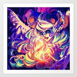 Lucrecia-Dragon Phoenix Fire Art Print