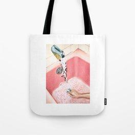 Evening Plans | Vintage Pink Bathroom | Retro Watercolor Tote Bag