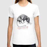 rat T-shirts featuring love rat by Jess John