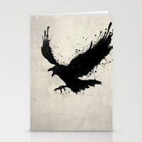 raven Stationery Cards featuring Raven by Nicklas Gustafsson