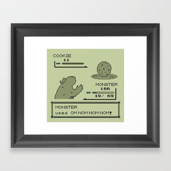 Cookiemon (Gameboy Original Version) Framed Art Print