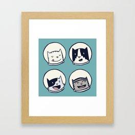 CatStronauts Team Heads Framed Art Print