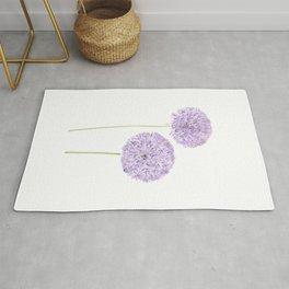 2 purple Allium watercolor  Rug