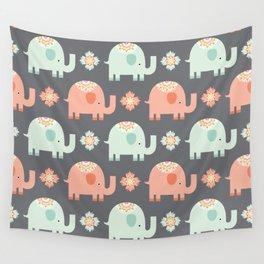 Elephants Wall Tapestry