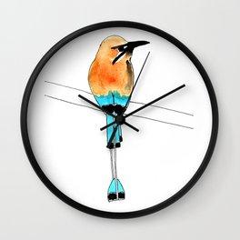 long tail feathered bird Wall Clock