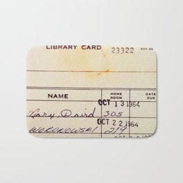 Library Card 23322 Bath Mat