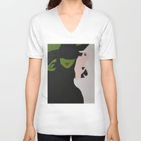 wicked V-neck T-shirts featuring Wicked by Sierra Christy Art