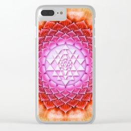 Sri Yantra Lotus II Clear iPhone Case