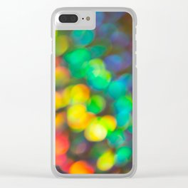 Rainbow Bokeh 1 Clear iPhone Case